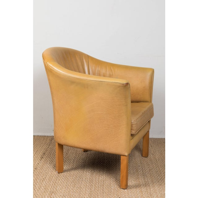 Tan Vintage Leather Occasional Chairs (Pair Available) For Sale - Image 8 of 11
