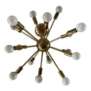 Mid-Century Modern 16 Arm Sputnik Hanging Light Fixture For Sale