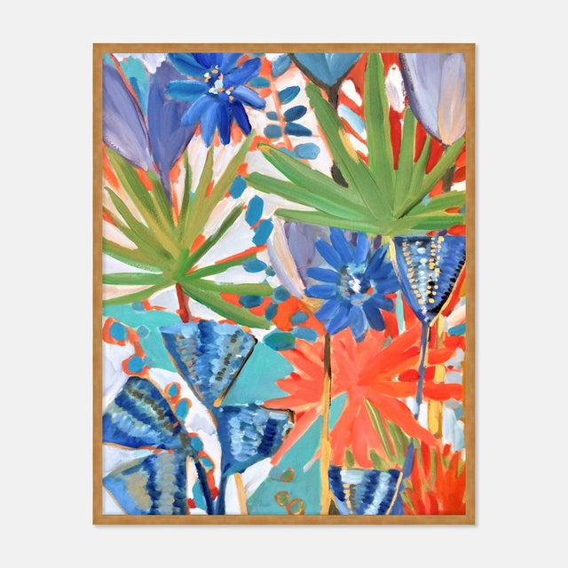 Jungle 1 by Lulu DK in White Framed Paper, Large Art Print For Sale - Image 4 of 4