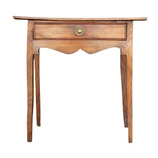 19th Century English Oak Side Table For Sale