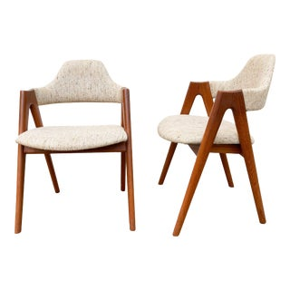 1960s Kai Kristiansen Teak Compass Chairs - a Pair For Sale