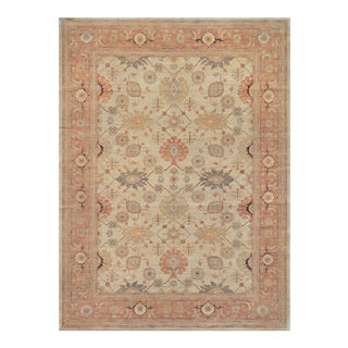 "Persian Mansour Quality Handwoven Agra Rug - 8'2"" X 11' For Sale"