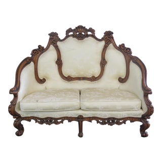 Victorian Style Settee For Sale