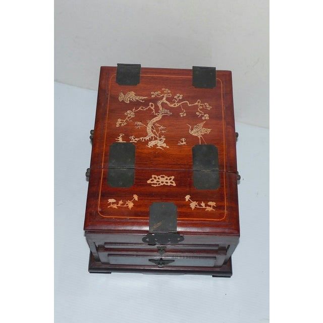 Chinese Rosewood Dressing Box With Bone Inlay - Image 3 of 10