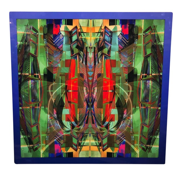 Dan Freund Modernist Mixed Media Photographic Modern Art Aluminum Picture For Sale
