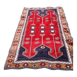 "Vintage Anatolian Handwoven Wedding Rug - 5'6"" x 3'1"""