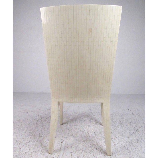 Enrique Garcel Tessellated Bone Card Table With Chairs For Sale - Image 10 of 11