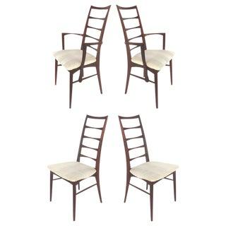 1950s Vintage Niels Koefoed Danish Modern Rosewood Chairs- Set of 4 For Sale