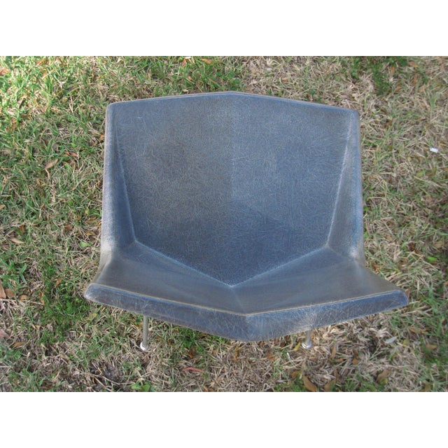 Paul McCobb Vintage Paul McCobb Grey Origami Shell Chair For Sale - Image 4 of 7