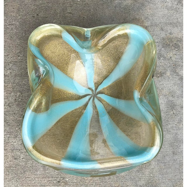 Alfredo Barbini Alfredo Barbini Murano Circus Tent Glass Bowl For Sale - Image 4 of 4