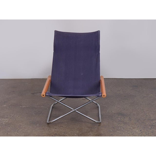 "NY Folding Sling Chair by Takeshi Nii. Originally from 1958 and named ""NY,"" after the Danish word for ""new,"" it was..."