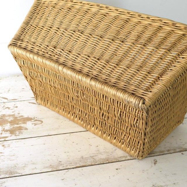 Brown Vintage French Laundry Basket For Sale - Image 8 of 8