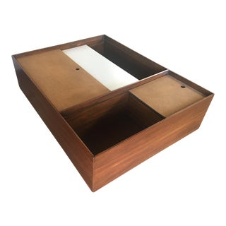 1960s Mid Century Modern Drexel Storage Coffee Table For Sale