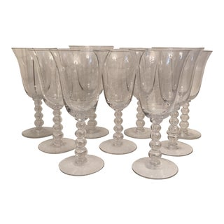Candlewick Water Goblets - Set of 9 For Sale