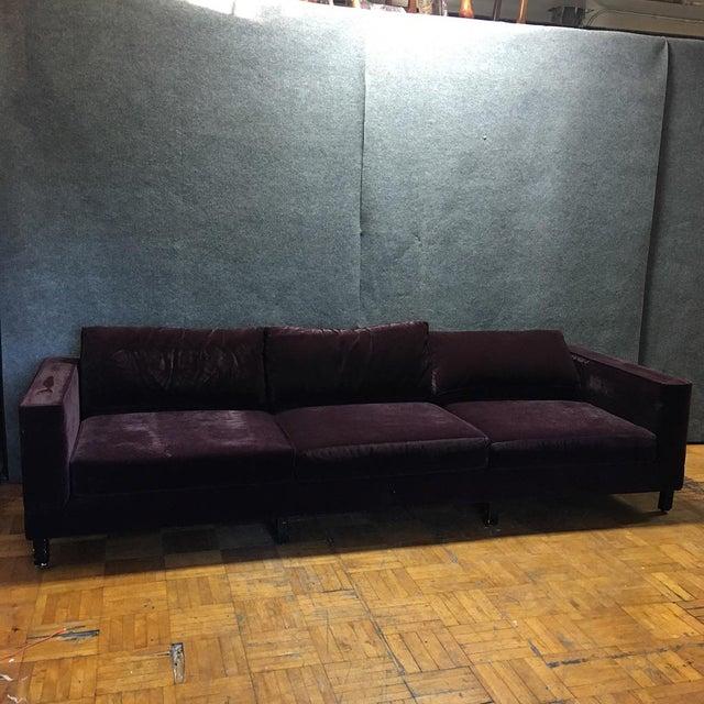 Dialogica Purple Velvet 10-Foot Custom-Made Sofa - Image 2 of 11
