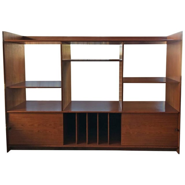 Teak Danish Bookshelf For Sale - Image 4 of 4