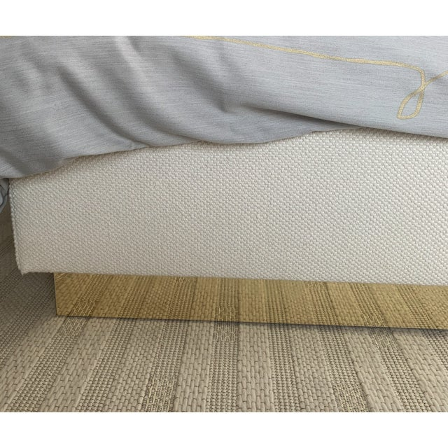 Contemporary Featured in The 2020 San Francisco Decorator Showcase — Kristen Pena Custom Upholstered Bed Frame For Sale - Image 3 of 5