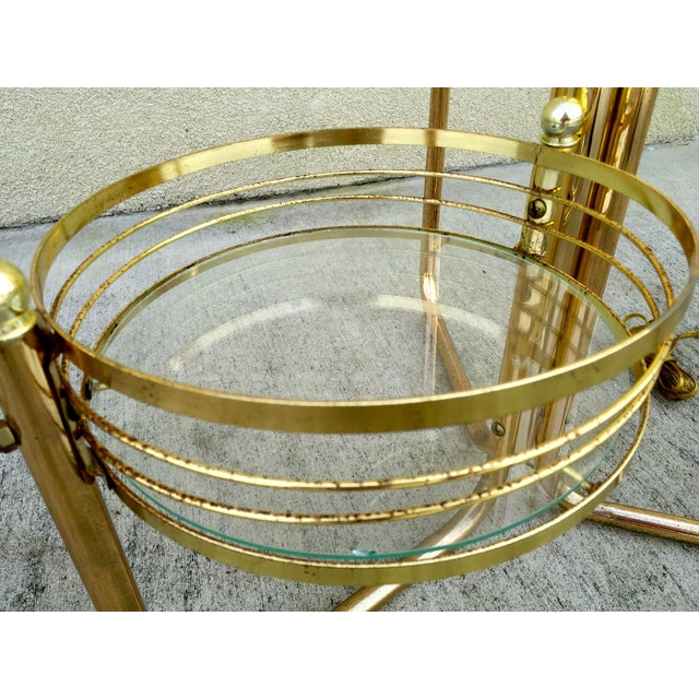 Mid-Century 3-Shelf Brass Floor Lamp - Image 5 of 9