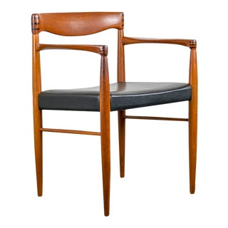 Danish Teak + Rosewood Arm Chair by h.w. Klein For Sale