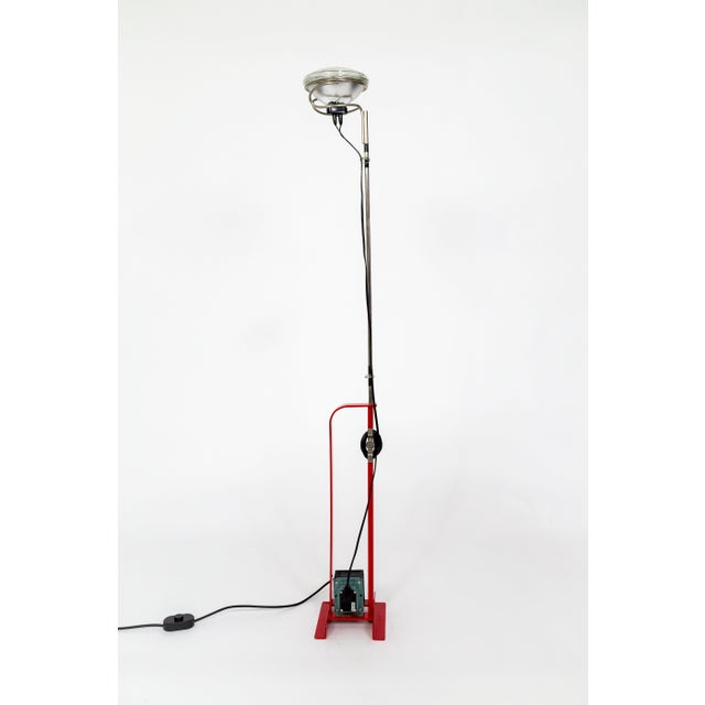 Castiglioni Toio Industrial Red Floor Lamp by Flos For Sale - Image 12 of 12
