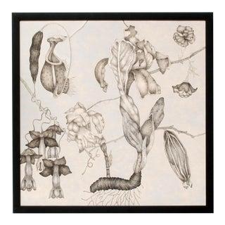 Fleurs Effilées #2, Fine Art Giclée Print on Canvas, Framed For Sale