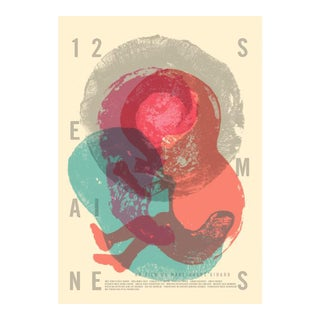 Contemporary Movie Poster, 12 Semaines, film by Marc-Andre Girard