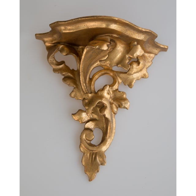 Italian Giltwood Decorative Wall Brackets - a Pair For Sale - Image 4 of 8