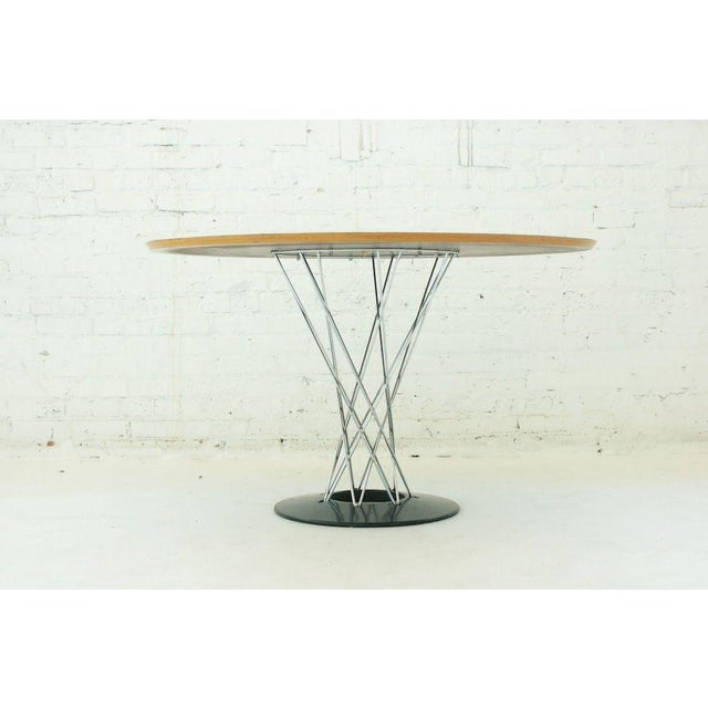 """Table by Noguchi for Knoll, early production, possibly first year Cyclone table. With rare custom 47.5"""" top."""