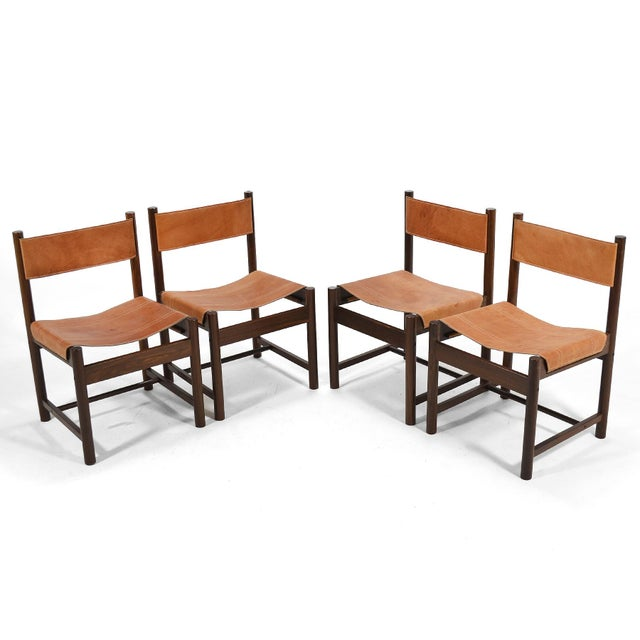 1960s Michel Arnoult Table & Four Chairs For Sale - Image 5 of 11