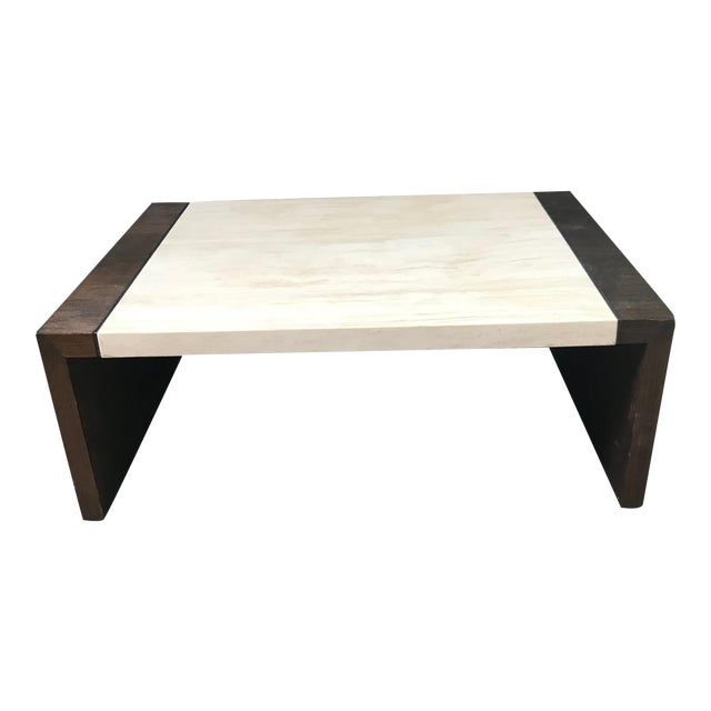 Vintage Calvin Klein Stone Top Coffee Table Chairish - Calvin coffee table