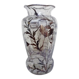Large Silver Overlay Vase For Sale