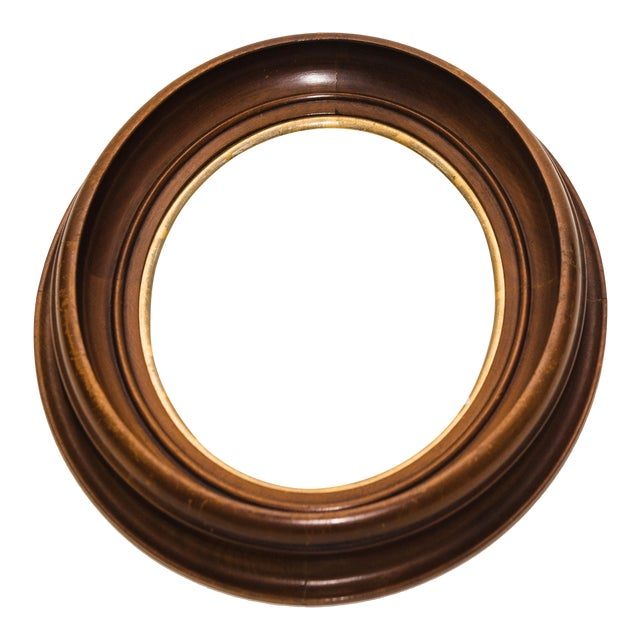 Antique Wood Oval Frame | Chairish