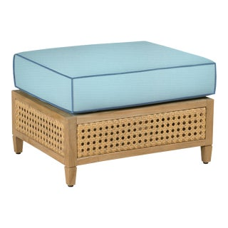 Keys Ottoman, Mineral Blue and Sapphire Blue For Sale