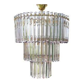 Camer Mid-Century Modernist Murano Glass Chandelier For Sale