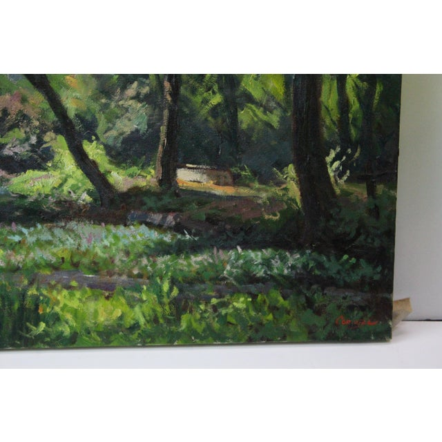 Impressionism Caddell Spring Forest Painting by Foster Caddell For Sale - Image 3 of 7