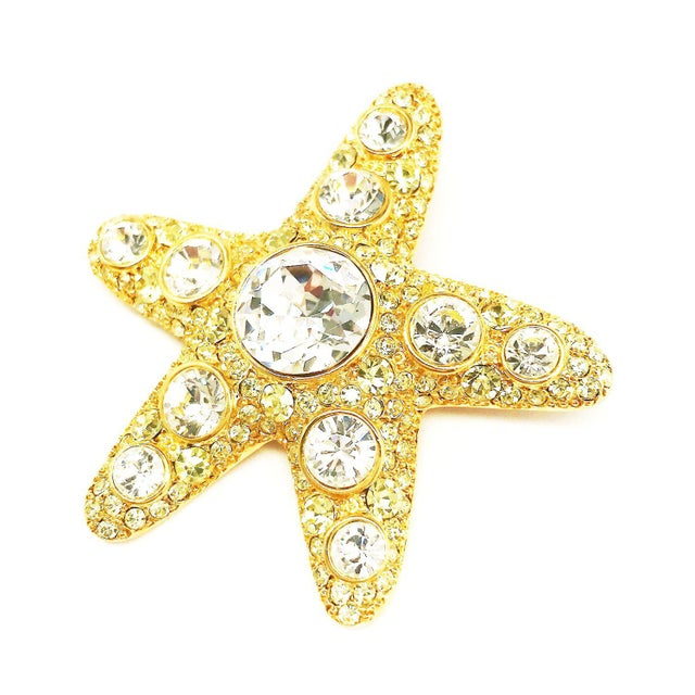 1980s Starfish Brooch by Kenneth Jay Lane For Sale - Image 5 of 5