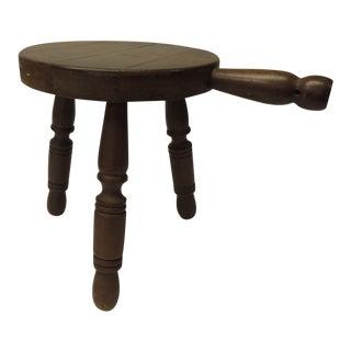 Vintage Rustic Wood Milking Decorative Stool For Sale