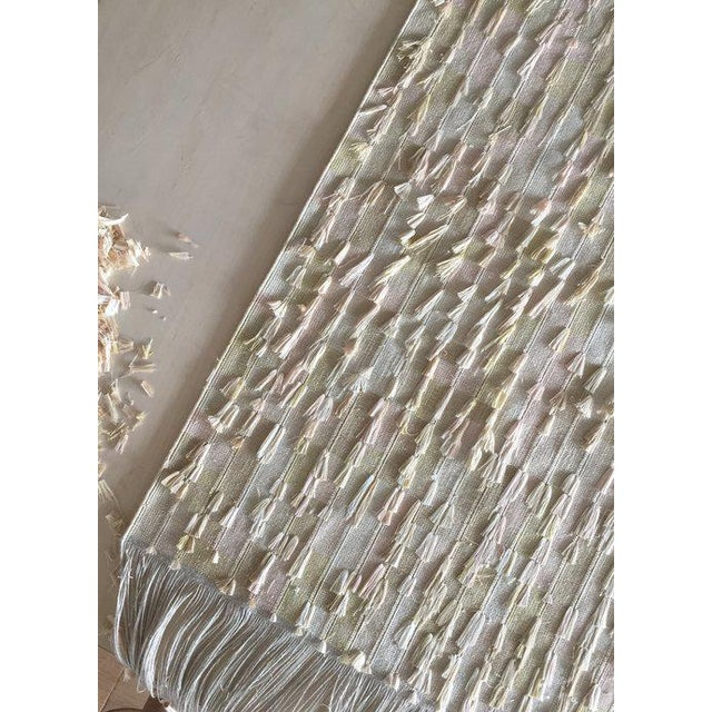 Modern Oyyo Weaving 01 - White/Brown For Sale - Image 3 of 4