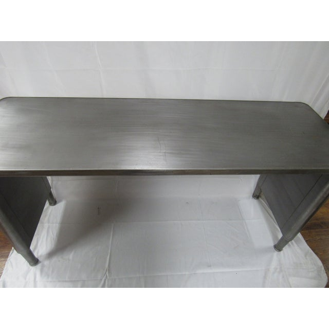 1960s 1960s Industrial Adjustable Height Console Table For Sale - Image 5 of 7