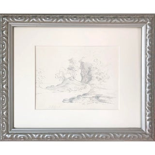 19th Century Antique English Graphite Landscape Drawing For Sale