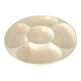 Red Wing Ivory Ceramic Hors D' Oeuvres Tray For Sale