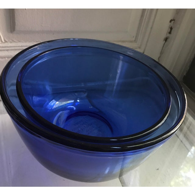 Vintage Anchor Hocking Cobalt Blue Mixing Bowls - Image 3 of 9