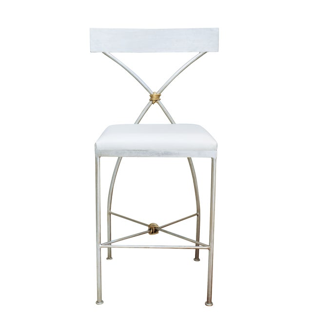 Hollywood Regency Rivers Spencer Ivey Counter Stool For Sale - Image 3 of 4