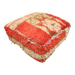 Moroccan Vintage Unstuffed Pouf For Sale