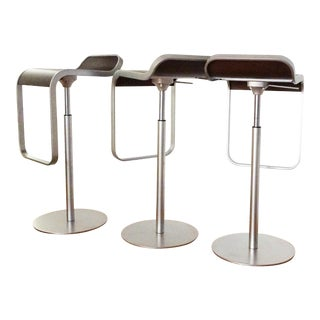 Minimalist Shin and Tomoko AzumiLem Piston Stools - Set of 3 For Sale
