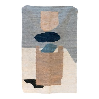 "Karu X Frances V. H. 'Still Life With Cup' Mohair Rug In Ivory & Blush - 82"" x 120"" For Sale"