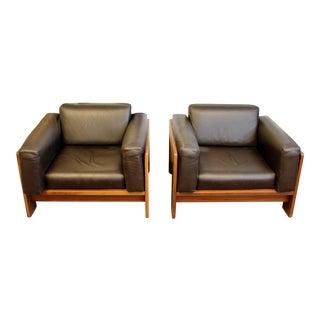 Mid Century Modern Tobia Scarpa Knoll Bastiano Club Lounge Chairs Italy 70s - a Pair For Sale