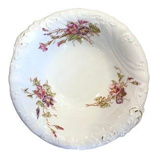 Antique W.H. Tatler Wash Basin or Serving Bowl For Sale