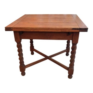 Dutch Oak Refectory Table For Sale