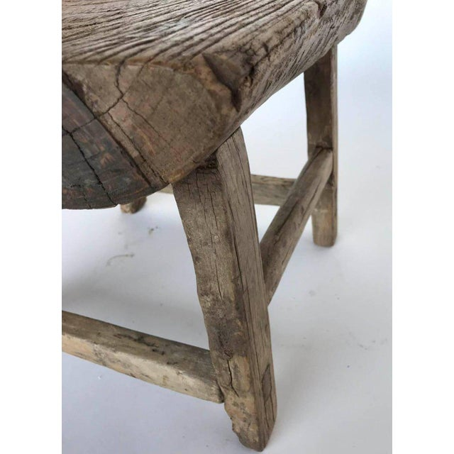 Rustic Japanese Elm Stool or Small Table For Sale In Los Angeles - Image 6 of 8